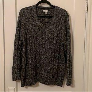 Croft & Barrow 2X Black & White Sweater NEW